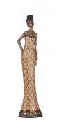 Figura africana B, 8,50x6,50x35,00 cm