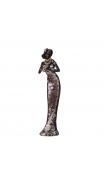 Figura africana vestido morado 8,40x5,80x32,80 cm