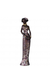 Figura africana vestido morado 10,00x9,30x41,00
