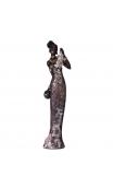 Figura africana vestido morado 11,00x9,50x42,00