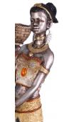 Figura africana cesto A, 12,00x9,50x52,00 cm