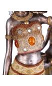 Figura africana cesto B, 12,00x9,50x52,00 cm