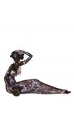 Figura africana vestido morado 30,60x11,40x19,80 cm