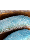 Figura Ballena oro-azul madera Mediana 30,00x7,00x10,00 cm