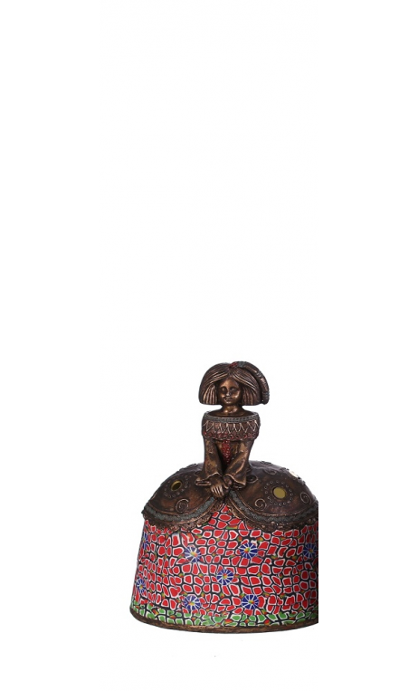 Figura Menina A bronce roja Pequeña 12,00x9,50x17,00 cm