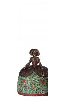Figura Menina bronce verde Grande 17,50x11,50x22,00 cm