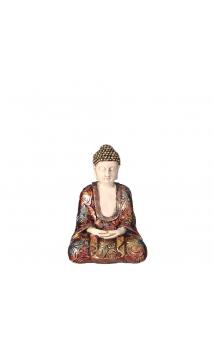Figura Buda Pequeño blanco-oro 9,30x7,30x12,30 cm
