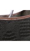 Revistero Cocodrilo negro-marrón 31,50x17,50x31,00 cm