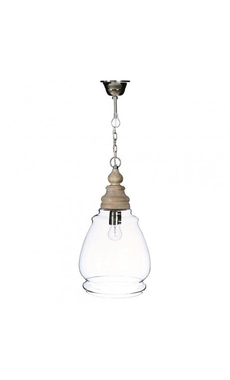 Lámpara techo transparente 23x23x42 cm