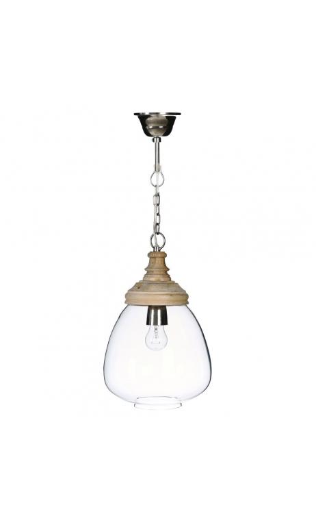 Lámpara techo transparente 22x22x34 cm