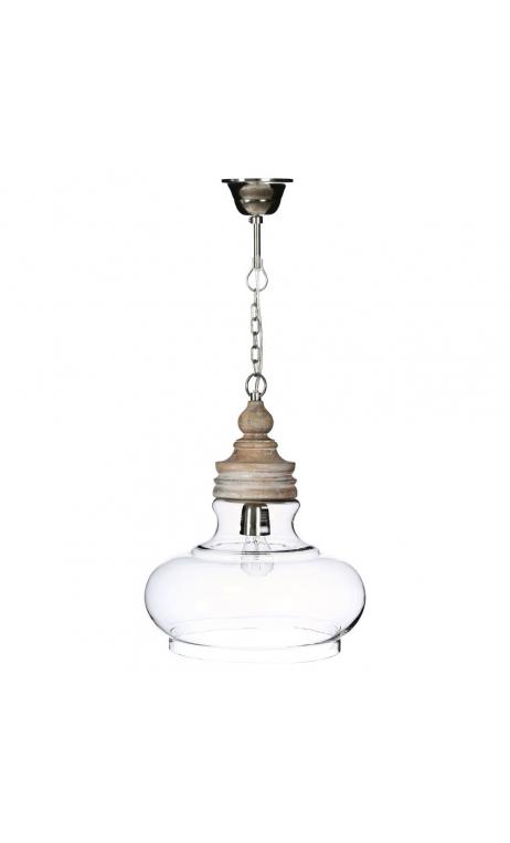 Lámpara techo transparente 34x34x38 cm