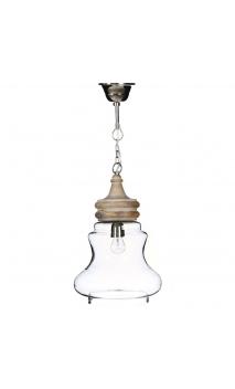 Lámpara techo transparente 27x27x45 cm