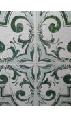 Cuadro lienzo Greca verde 70x70 cm