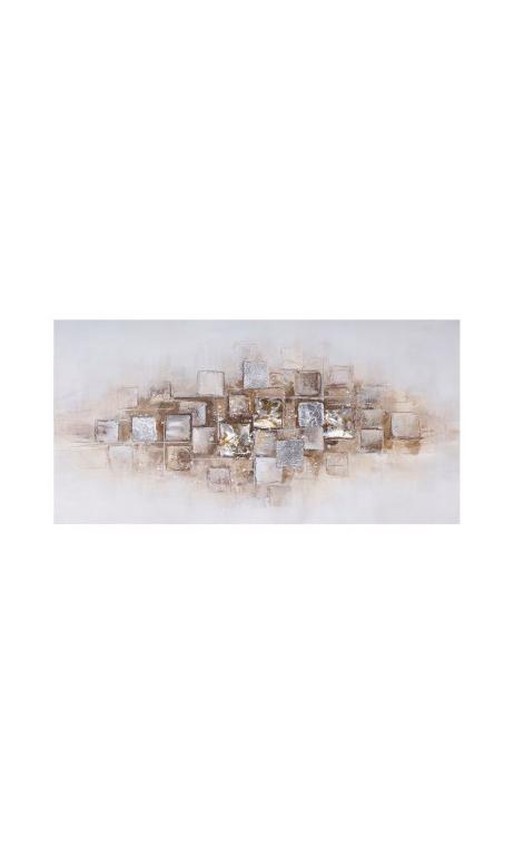 Cuadro Abstracto Relieve 70x140 cm
