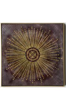 Cuadro Mandala marco oro