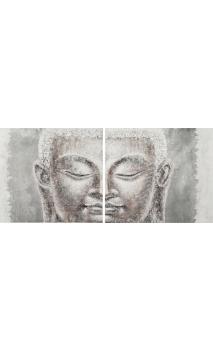 Cuadro Buda set de 2 Plata