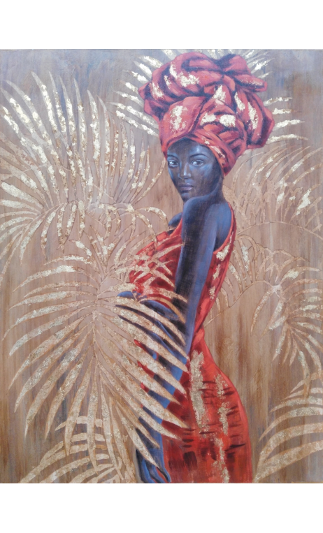 Cuadro Africana Pintura A 120x90 cm