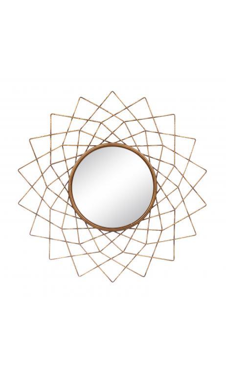 Espejo oro viejo metal/ cristal 82,50 cm