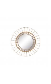 Espejo oro metal/ cristal 50