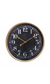 Reloj pared oro negro metal / cristal 60 cm