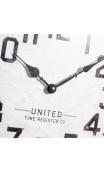 Reloj pared gris metal / cristal 38,50 cm