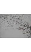 Cuadro Hoja Relieve 100x70 cm