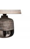 Lámpara mesa plata cerámica tejido 28