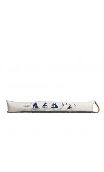 Cortavientos veleros crema azul tejido 83 cm