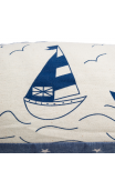 Cortaviento veleros crema azul tejido 83 cm