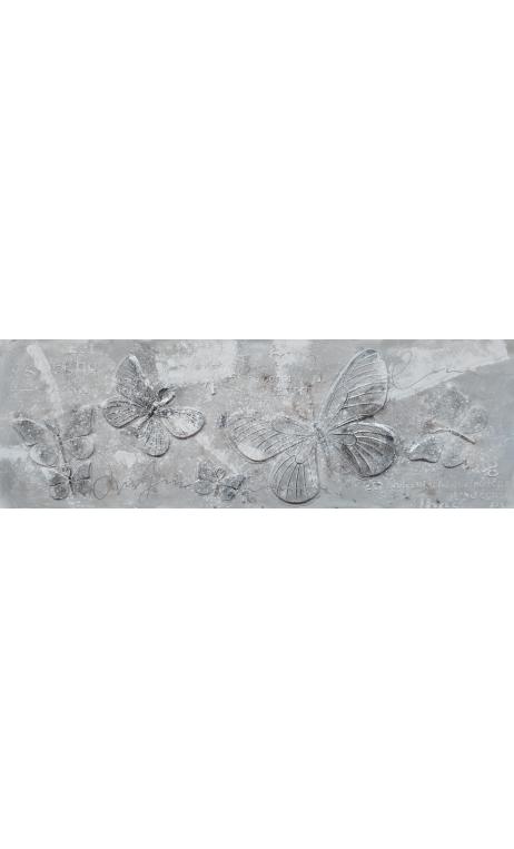 Cuadro Mariposas Relieve 50x150 cm