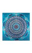 Cuadro Mandala Azul Mariposas 90x90