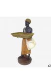 Africano con bandeja