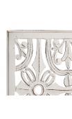 Cabecero tallado blanco Étnico 150