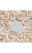 Mural Tríptico natural lavado espejo