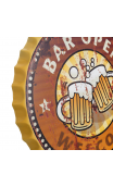 Placa pared BEER metal 50x50