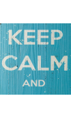 Placa pared KEEP CALM 80x30