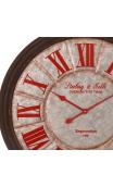 Reloj plata rojo metal 80x80