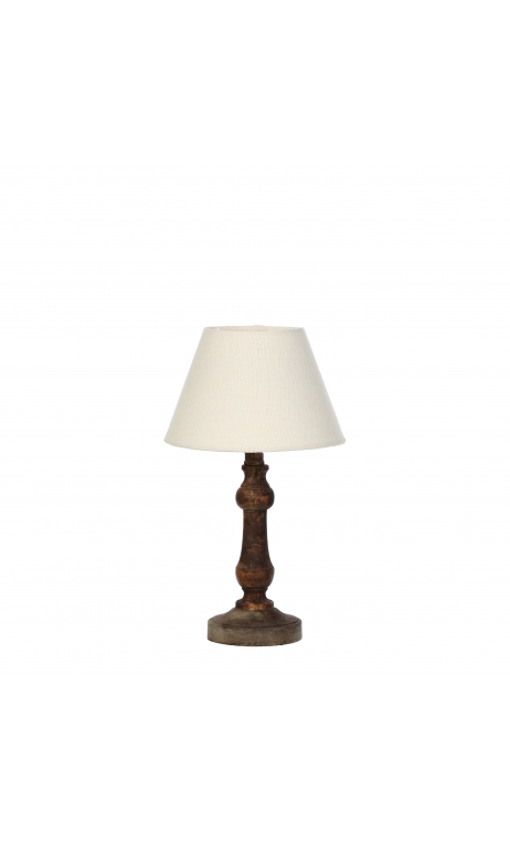 Lámpara madera marrón