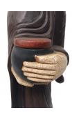 Figura Monje con Vasija color
