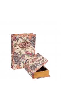 Set 2 Cajas Libro Pavo Real