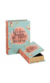 Set 2 Cajas Libro LOVE