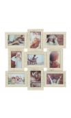Portafotos Múltiple 9 F Blanco rozado