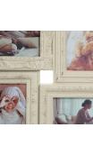 Portafotos Múltiple 6 F Blanco rozado