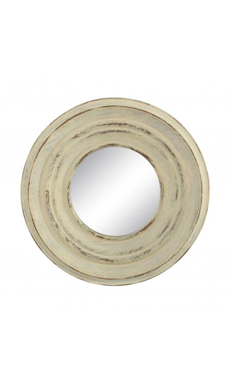 Espejo crema resina 25x25 C