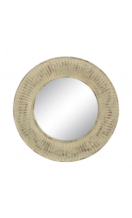 Espejo crema resina 25x25 D