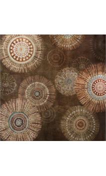 Cuadro Soles Marrón 80x80 cm