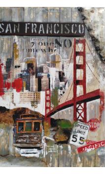 Cuadro San Francisco 3D 150x100 cm