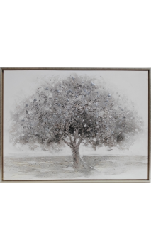 Cuadro Árbol Plata 125 x 94,5 cm