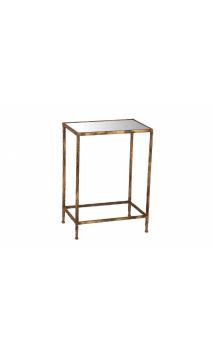 Mesa Auxiliar cristal rectangular