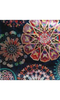 Lienzo colores flores 80X3,8X80 CM
